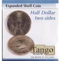Coquille expansée Demi Dollar (Double) +DVD / Expanded shell coin half dollar two sides / Tango