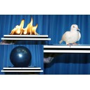 BALLOON FIRE DOVE TRAY / PLATEAU EN FEU A APPARITION DE COLOMBEBALLOON FIRE DOVE TRAY / PLATEAU EN FEU A APPARITION DE COLOMBE