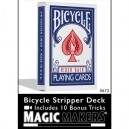 BICYCLE STRIPPER DECK BLEU OU ROUGE AVEC 10 ROUTINES