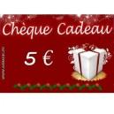 Chèque cadeau 5 euros